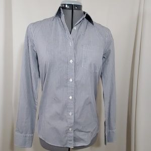 J.CREW Blue Striped Boy Shirt Size 0